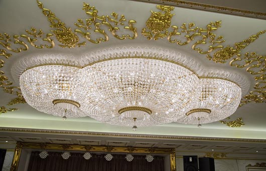 custom lighting project large chandelier hotel